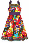 Girls Bright Floral Printed Dress Kids Summer Beach Dresses New Ages 3-10 Years