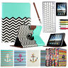 For Apple iPad 1 360 Rotating PU Leather Case Smart Cover Stand w/BT Keyboard