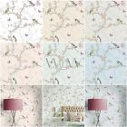 Beautiful Room Decor Holden Phoebe Birds Wallpaper - Cream, Grey, White Or Teal