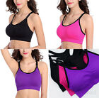 Women Padded Sport Bra Yoga Fitness Running Workout Tank Gym Top  Push Up M L