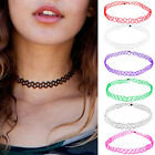 Fashion Stretch Tattoo Choker Retro Gothic Henna Punk Elastic Necklace 80s 90s
