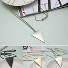 Punk Triangle Pendant Long Chain Costume Sweater Necklace for Lady Women 3Colors