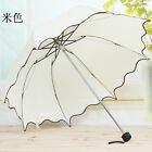 Flouncing Folding Umbrella Lotus Leaves Princess Dome Parasol Sun/rain Umbrella