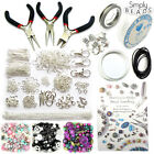 Jewellery Making Kit Silver Findings Instructions Tools Cords Beads Charms Chain
