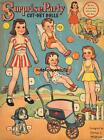 VINTGE 1943 SURPRISE PARTY PAPER DOLL ~WHITMAN~CUTE LASER REPRO~ORG SIZE UNCUT