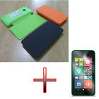 QW Flip PU Leather Battery Back Door Case Cover + Screen for Nokia Lumia 530