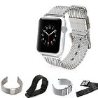 Stainless Steel Mesh Bracelet Loop Strap Buckle Hole Band for Apple Watch iWatch