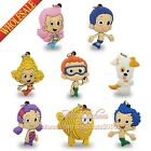 4PCS Cute Bubble Guppies Keychains Necklaces Pendants,Cartoon Character Charms