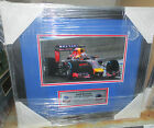 "DANIEL RICCIARDO SIGNED 8""x10"" F1 PHOTOGRAPH FRAMED + PHOTO PROOF & C.O.A"