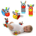 Infant Baby Cute Animal Wrist Foot Socks Rattles Soft Developmental Finder Toys