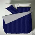 Catherine Lansfield Polka Dot Duvet Set In Navy Or Red Choice Of 3 Sizes