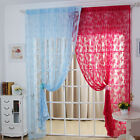 New Butterfly Pattern Sheer Curtain  Window Balcony Tassel  Room Divider Fashion