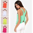 Sexy Womens Chiffon Sleeveless Blouse Summer Shirt Tops Women Tank Top Vest