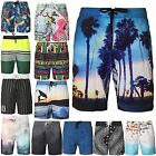 NEW MENS H&M PRINTED SWIM BEACH SURF ELASTICATED SUMMER SHORTS MESH LINED PANTS