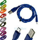 Strong Braided USB Charger Cable Data Sync Charge Cord for Android Phone