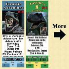 thankyou photo cards - Jurassic World Jurassic Park Birthday Invitation or Thank You Card Personalize