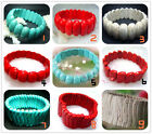 """New Fashion Blue 、Red、White Turquoise Beads Stretch Bracelet 8"""" BB001-2"""