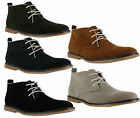 Mens Faux Suede Smart Casual Lace Up Classic Style Desert Boots Sizes 6 to 12