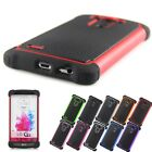 Heavy Duty Hybrid Protective Rugged Rubber Matte Hard Case Cover For LG G3