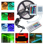 20M 15M 10M 5M 5050 SMD LED RGB Strip Light Flexible Remote Power Dimmable Kit