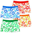 Boys Vibrant Hawaiian Floral Swim Trunks New Kids Swimming Shorts Age 3-14 Years
