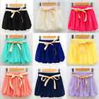 Fashion temperament Candy Color New comfortable Chiffon Bloomers Women shorts