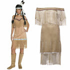 Ladies Pocahontas Native American Indian Princess Wild West Fancy Dress Costume