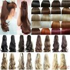 Long Claw Clip Ponytail Hair Extension Piece Curly Wavy Black Blonde Brown Red