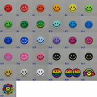 Mini Smiley Face Iron On / Sew On Cloth Patch Badge Appliqué happy smile smiling