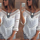 Ladies Summer Vest Top Sexy Blouse Casual Crochet Tank T-Shirt cover up Beach