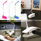 Adjustable Clip-On USB Rechargeable Touch Sensor LED Reading Light Desk Lamp New