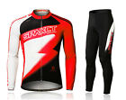 Spakct Cycling Suits Long Jersey Long Sleeve & Pants-Lightning Red