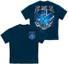 "EMT ""On Call For Life"" T-shirt by Erazor Bits, Blue"