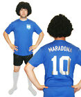 Diego Maradona Argentina 1986 Football Fancy Dress Costume ideal for Stag Party