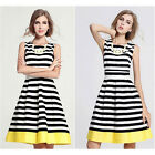 Trendy Womens Sexy Summer Stripe Evening Party Casual Short Mini Dress CALA