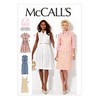 McCall's 6696 Sewing Pattern to MAKE Modern Shirt Dress in cup sizes Inc. Slip