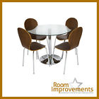 LEVV Dining Table and 4 Wood veneer Dining Chairs
