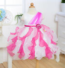 Elegant Girl Princess Dress Rose Pageant Tutu Wedding Bridesmaid Dresses Party