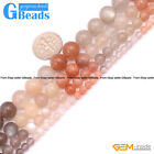 "Round Gemstone Moonstone DIY Jewelry Crafts Making Loose Beads Strand15"" 4-10mm"