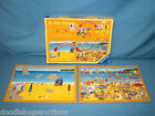Vintage 1988 Ravensburger AT THE BEACH 2-Interchangeable Frame-Tray Puzzle Set