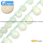 Natural Amazonite Gemstone Top-Drilled Faceted Drip Beads For Jewelry Making 15""