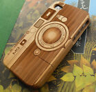 Genuine Natural Wooden Bamboo Hard Back Case Cover for iPhone 5 5S Camera M9 NEW