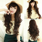 Sexy Fashion Long Wig Curly Wavy Brown Black Hair Costume Party Women Lolita Wig