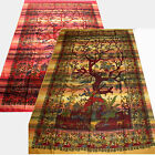 Tagesdecke-LEBENSBAUM- Wandbehang Indien Tree of life Plaid Dekotuch kd SINGLE