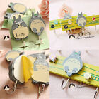 Totoro Adhesive Wooden Door Wall Baby Kids Coat Clothes Hangers Hooks Xmas Gift