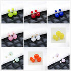 1 Pair Candy ball stud earrings Fashion Colored candy Earrings Ear Studs 9Colors