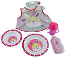 First Steps Jungle Pals Baby Feeding Set BPA Free Bowl Plate Cutlery Sippy Cup
