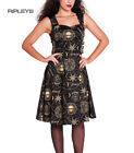 HELL BUNNY Black Goth TABITHA Pentagram Dress Steampunk Goth All Sizes