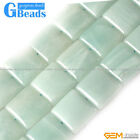 "Natural Amazonite Stone Square Beads For Jewelry Making Strand 15"" 12mm 20mm GB"