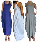 Ladies Dress Maxi Beach Boho Womens Jersey Racer Back Vest Top Size 8 10 12 14